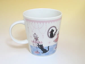 プレゼント|贈り物 黒猫ミィーのマグとティーセット