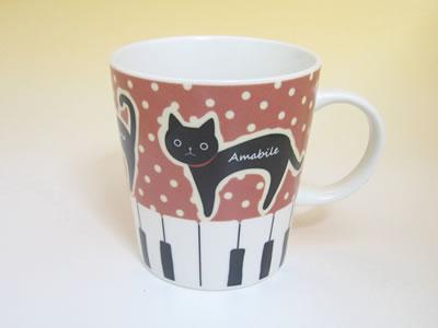 プレゼント|贈り物 ピアノねこマグとティーセット