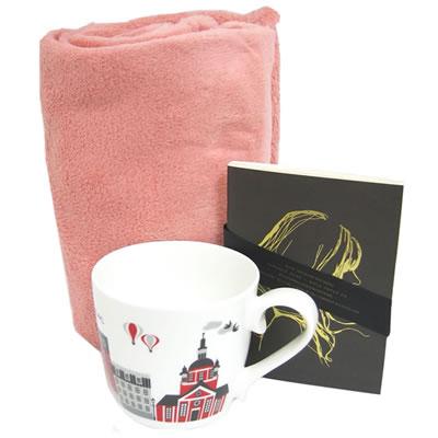 プレゼント|贈り物 スウェーデンマグカップ・ノートブックとジェラートブランケットのセット