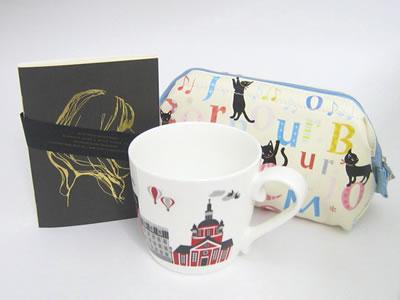 プレゼント|贈り物 スウェーデンマグカップ・ノートブックとワイヤーポーチのセット