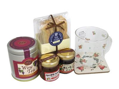 プレゼント|贈り物 プチローズマグとワインティーセット