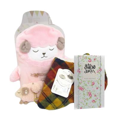 プレゼント|贈り物 まくまくブランケット・入浴剤とおやすみマフラーのセット