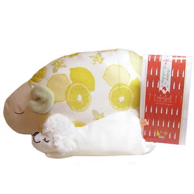 プレゼント|贈り物 レモンおやすみ羊お昼寝まくら・ドッグアイピローと入浴剤のセット