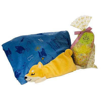 プレゼント|贈り物 ドッグひんやりブランケット・アイピロー・ムーミングラスのセット