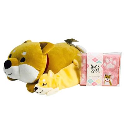 プレゼント|贈り物 ドッグくつろぎ枕・アイピロー・ミニタオルのセット